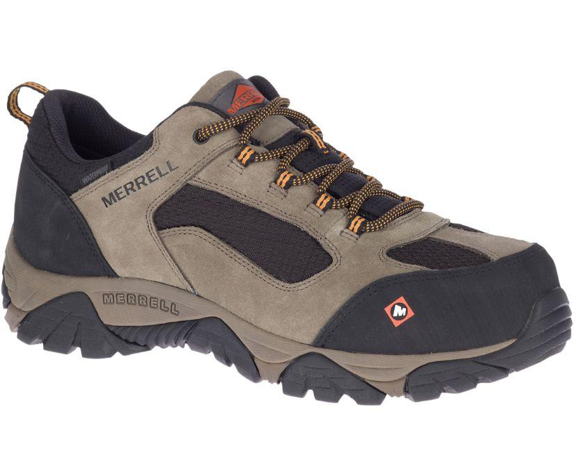 Moab Onset Waterproof Comp Toe Work Shoe Wide Width, Walnut, dynamic