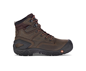 "Strongfield Leather X 7"" Waterproof Comp Toe Work Boot Wide Width, Espresso, dynamic"