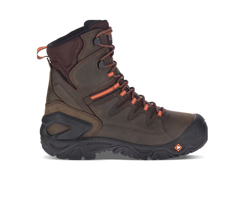 """Strongfield Leather 8"""" Thermo Waterproof Comp Toe Work Boot Wide Width, Espresso, dynamic"""