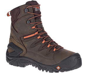 "Strongfield Leather 8"" Thermo Waterproof Comp Toe Work Boot Wide Width, Espresso, dynamic"