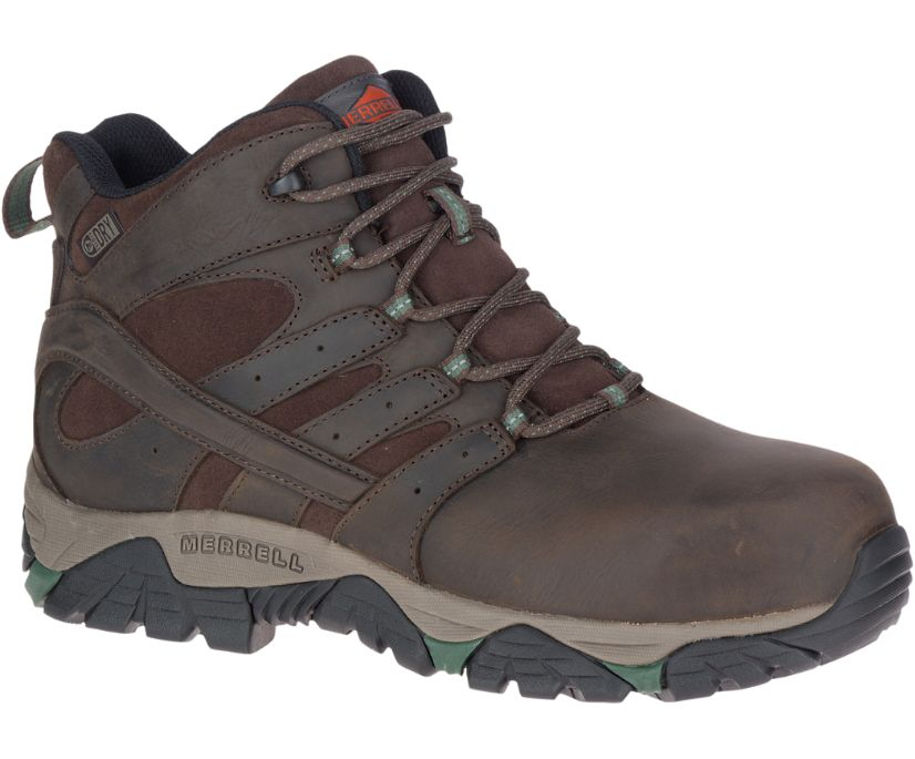 Moab Vertex Mid Leather Waterproof Comp Toe Work Boot Wide Width, Espresso, dynamic