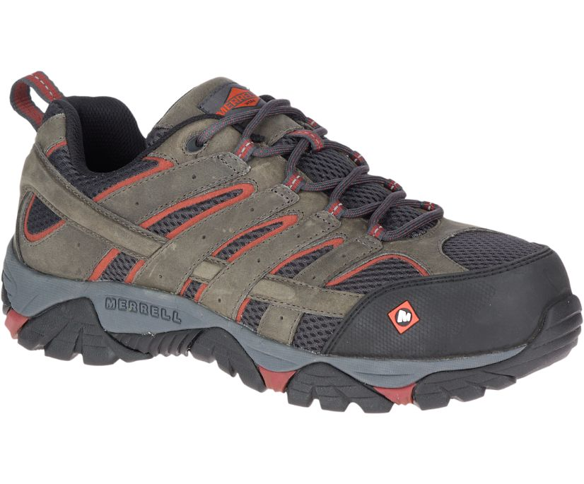 Moab Vertex Vent Comp Toe Work Shoe, Pewter, dynamic