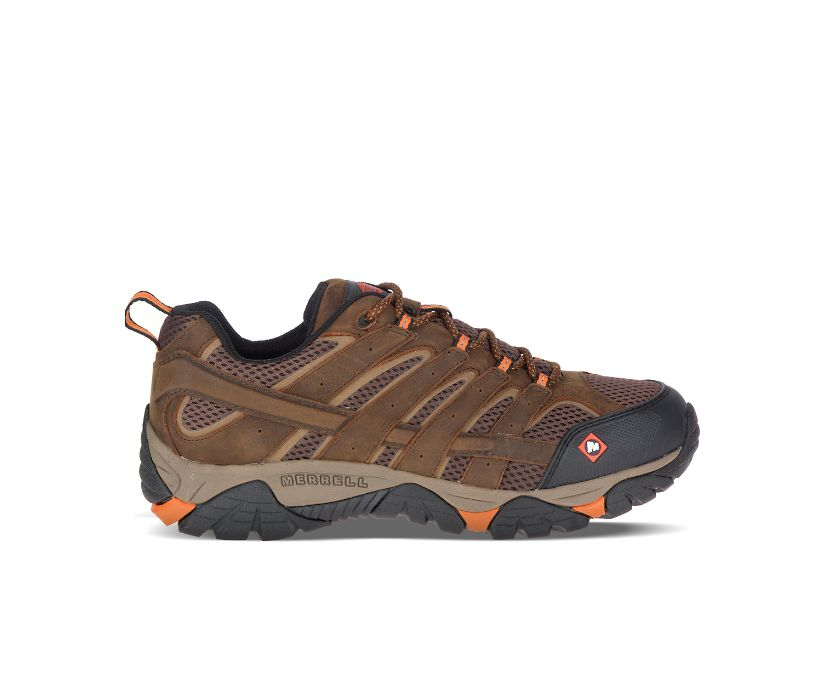 Moab Vertex Vent SR Work Shoe, Clay, dynamic