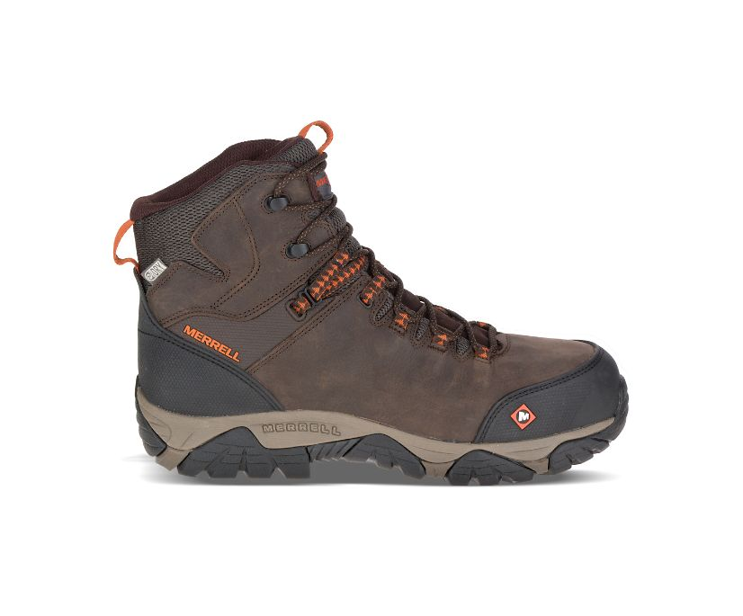 Phaserbound Mid Waterproof Comp Toe Work Boot Wide Width, Espresso, dynamic