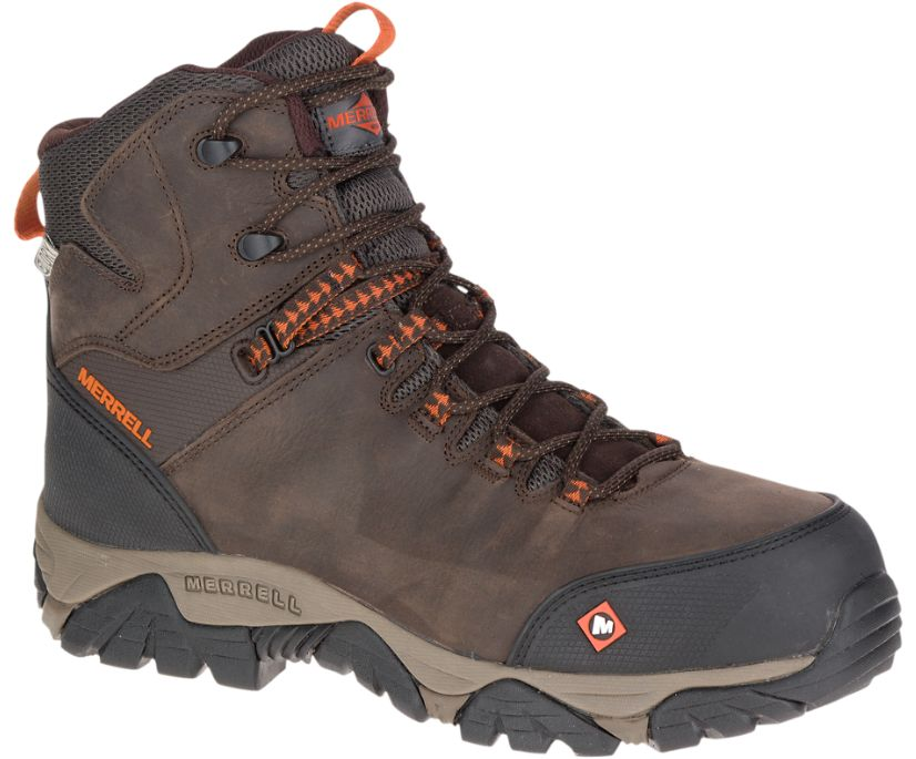 Phaserbound Mid Waterproof Comp Toe Work Boot, Espresso, dynamic