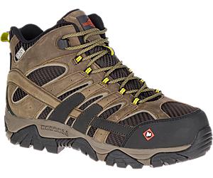 Moab 2 Vent Mid Waterproof Comp Toe Work Boot, Boulder, dynamic
