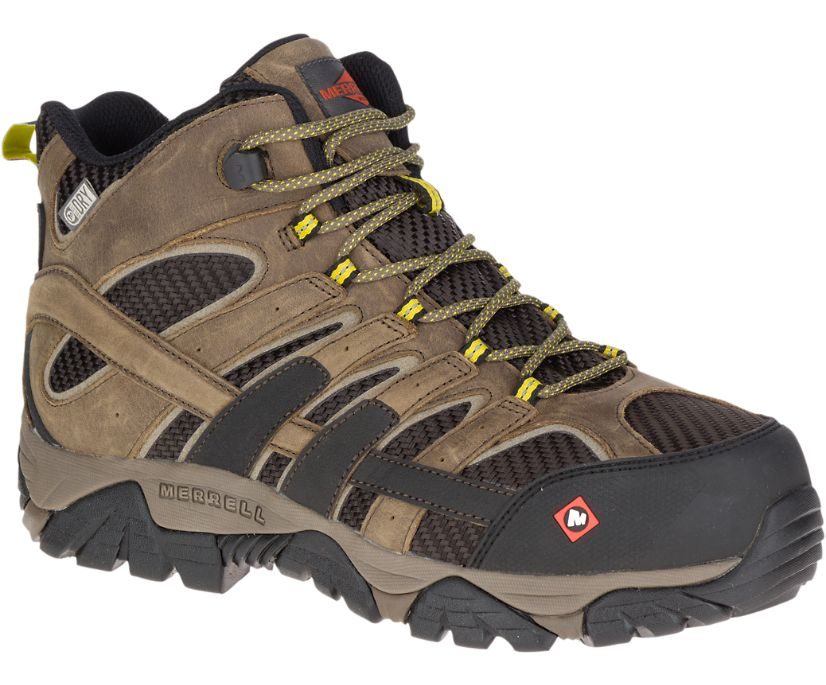 Moab 2 Vent Mid Waterproof Comp Toe Work Boot, Boulder, dynamic