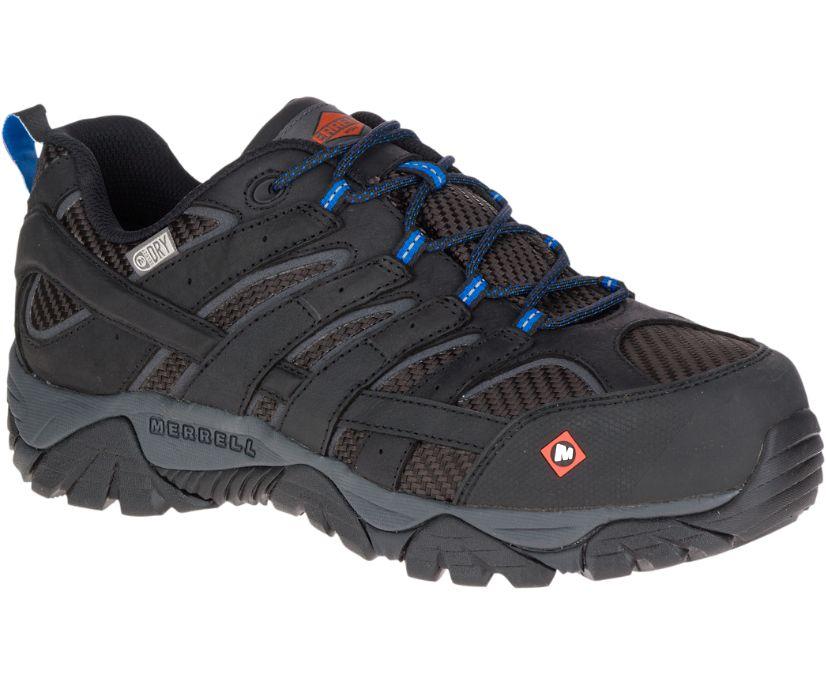 Moab 2 Vent Waterproof Comp Toe Work Shoe, Black, dynamic