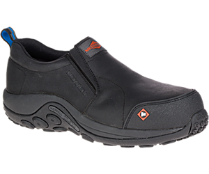 Jungle Moc Comp Toe CSA Work Shoe Wide Width, Black, dynamic