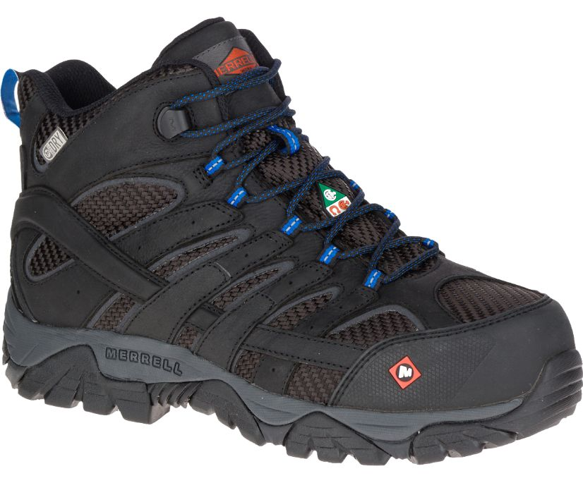 Moab 2 Ventilator Mid Waterproof Composite Toe CSA Work Boot Wide Width, Black, dynamic