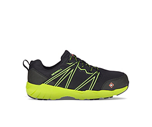 Fullbench Superlite Alloy Toe Work Shoe, Black/Lime, dynamic