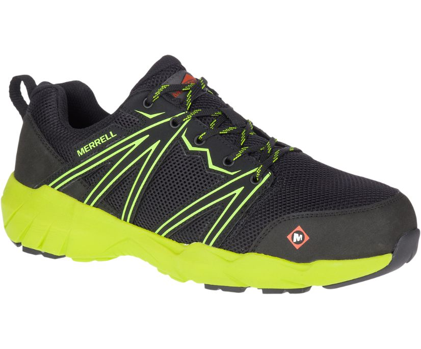 Fullbench Superlite Alloy Toe Work Shoe, Black/Lime, dynamic