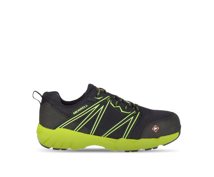 Fullbench Superlite CSA Alloy Toe Work Shoe, Black/Lime, dynamic