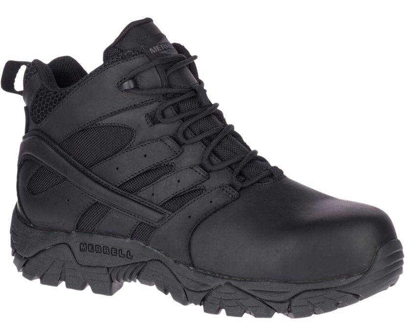 Moab 2 Mid Tactical Response Waterproof Comp Toe Work Boot Wide Width, Black, dynamic