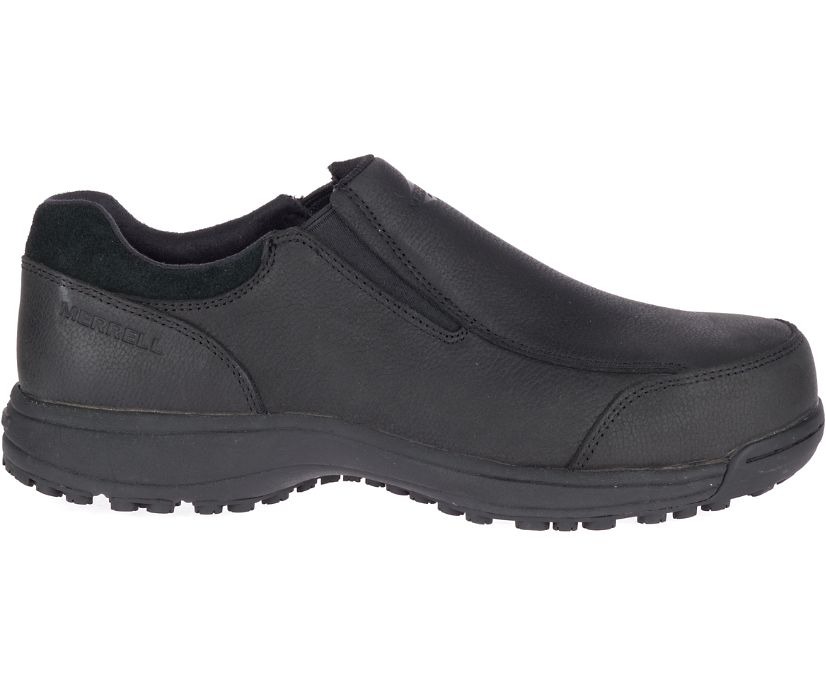 Sutton Moc Steel Toe Work Shoe, Black, dynamic
