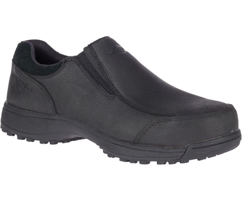 Sutton Moc Steel Toe Work Shoe, Black, dynamic