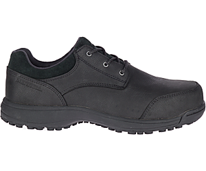 Sutton Oxford Steel Toe Work Shoe, Black, dynamic