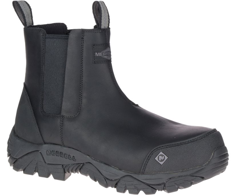Moab Rover Pull On Comp Toe Work Boot Wide Width, Black, dynamic