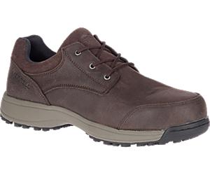 Sutton Oxford Steel Toe Work Shoe, Espresso, dynamic