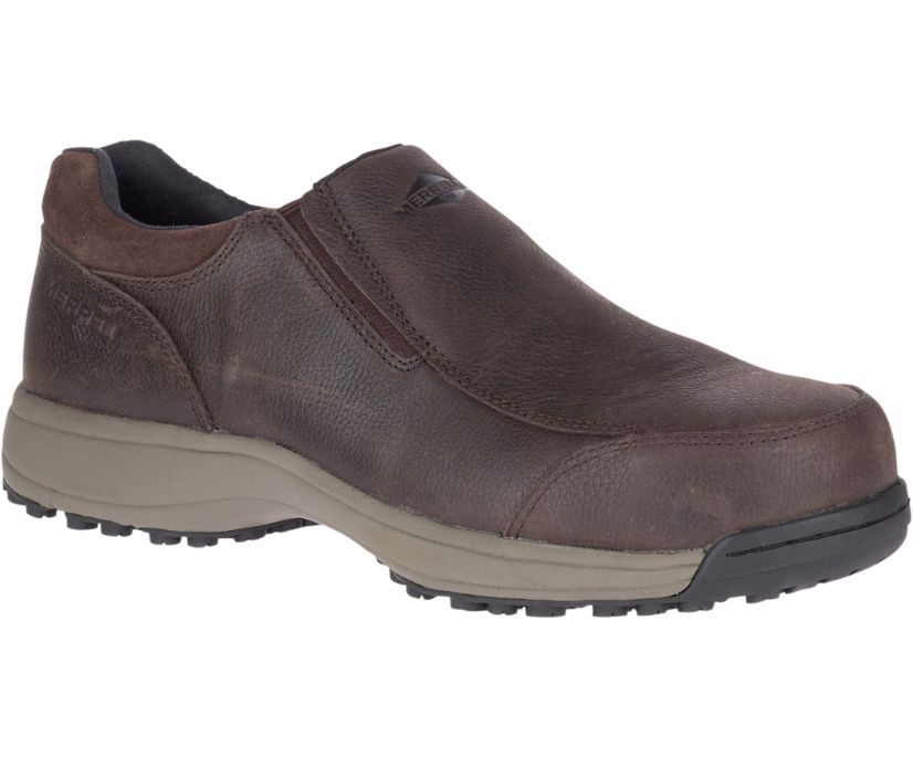 Sutton Moc Steel Toe Work Shoe, Espresso, dynamic
