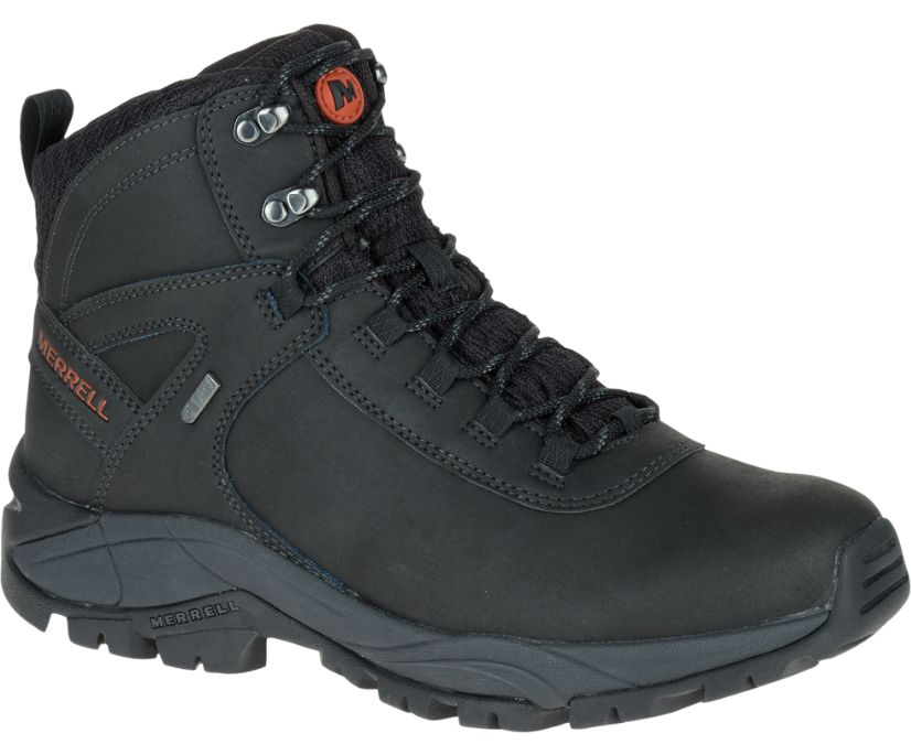 Vego Mid Leather Waterproof, Black, dynamic