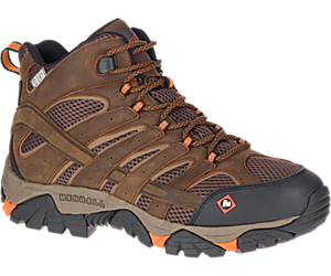 Moab Vertex Mid Waterproof SR Work Boot Wide Width, Clay, dynamic