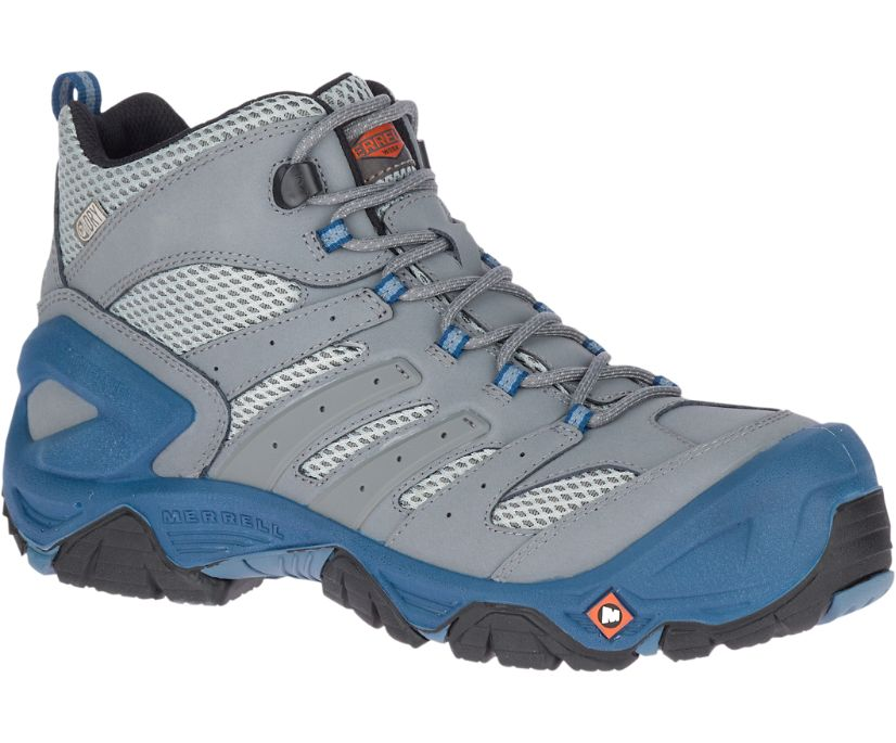 Strongfield Mid Waterproof Comp Toe Work Boot Wide Width, Grey, dynamic
