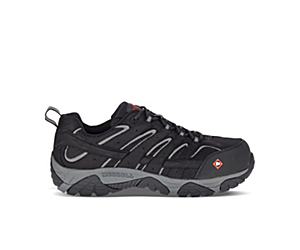 Moab Vertex Vent Comp Toe Work Shoe Wide Width, Black, dynamic