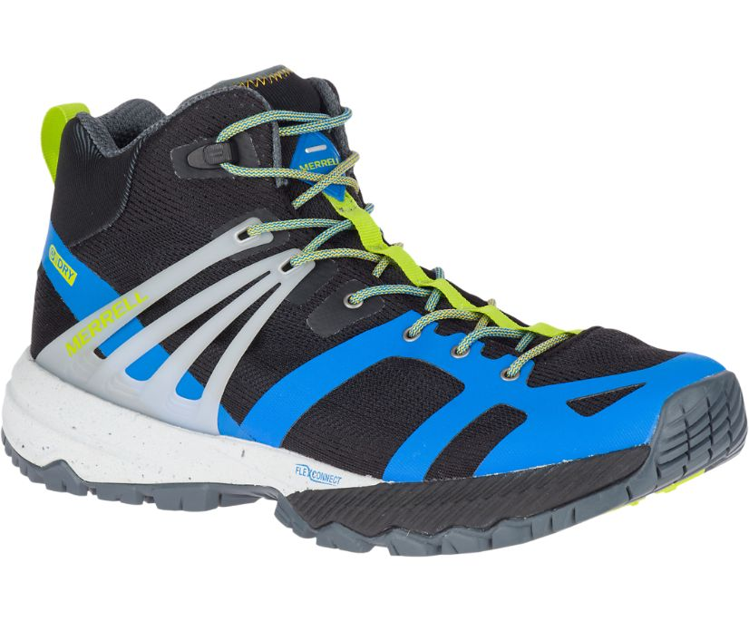 MQM Ace Mid Waterproof, Directoire Blue/Lime, dynamic