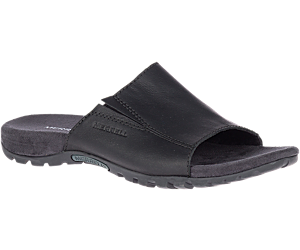 Sandspur Slide Leather, Black, dynamic