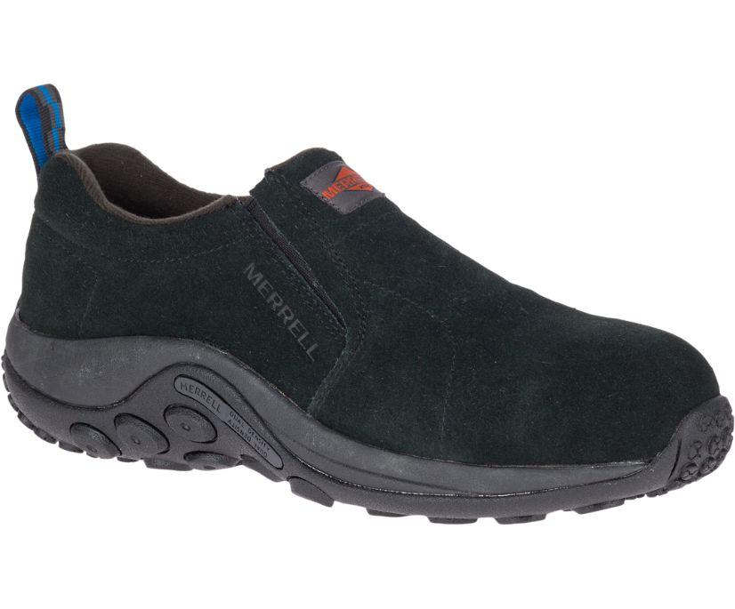Jungle Moc Alloy Toe Work Shoe Wide Width, Black, dynamic