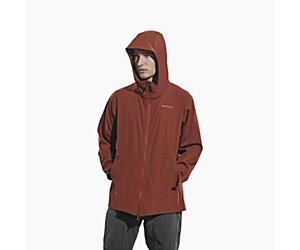 Whisper Rain Jacket, Brick, dynamic