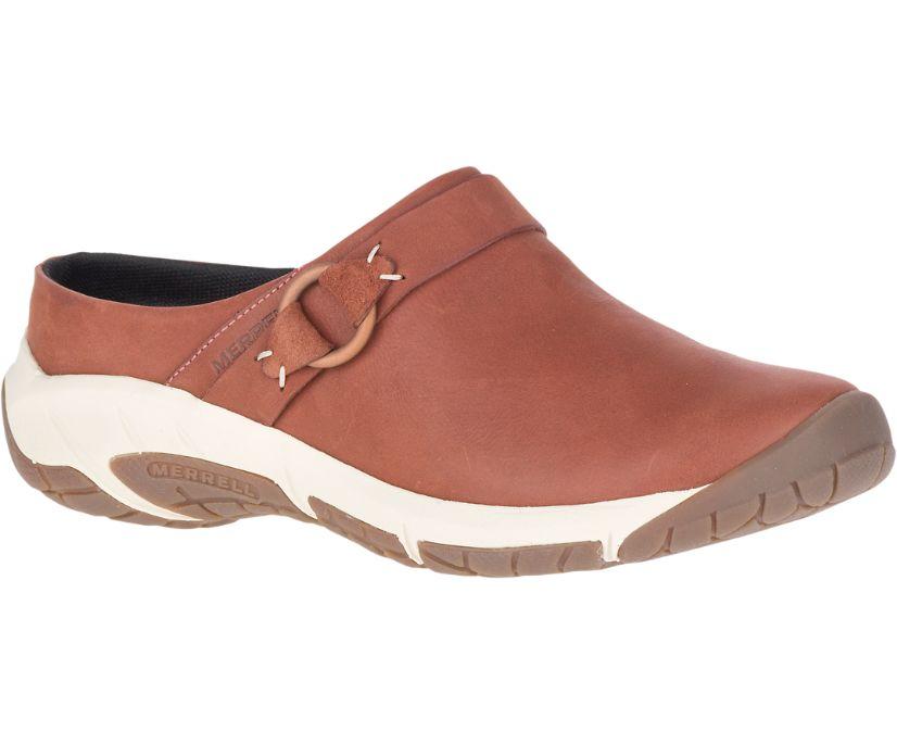 Encore Slide 4 Leather, Redwood, dynamic
