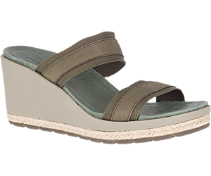 Kaiteri Wedge Slide, Olive, dynamic