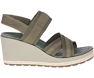 Kaiteri Wedge Strap, Olive, dynamic