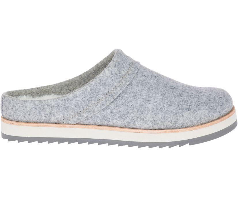 Juno Clog Wool, Charcoal, dynamic
