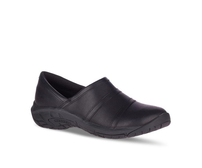 Encore Moc 4 Leather Wide Width, Black, dynamic