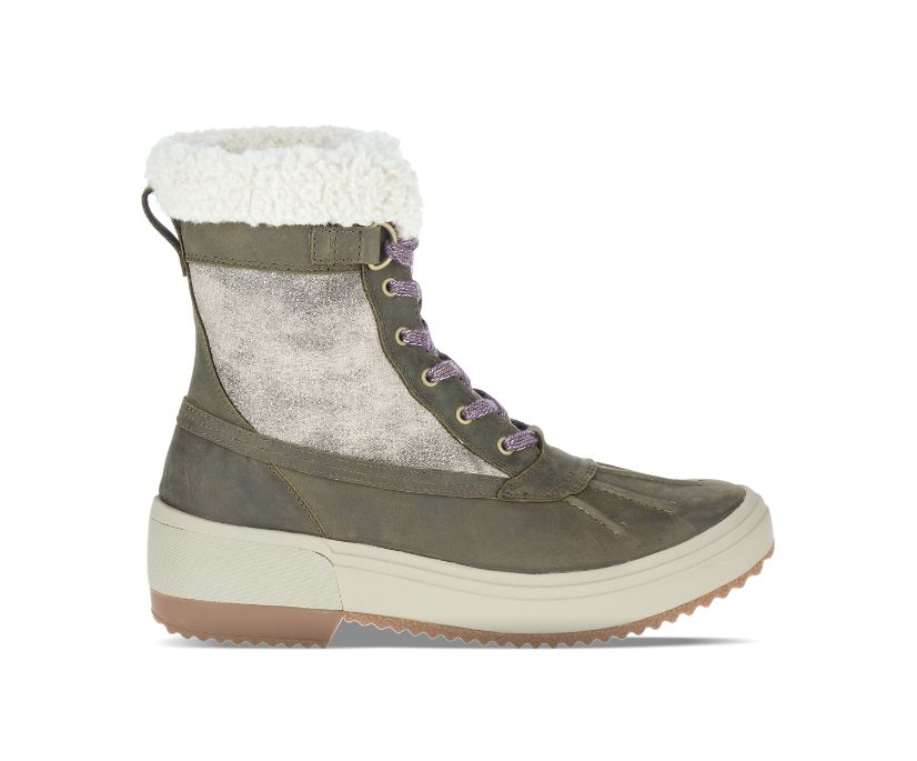 Haven Mid Lace Polar Waterproof, Olive, dynamic
