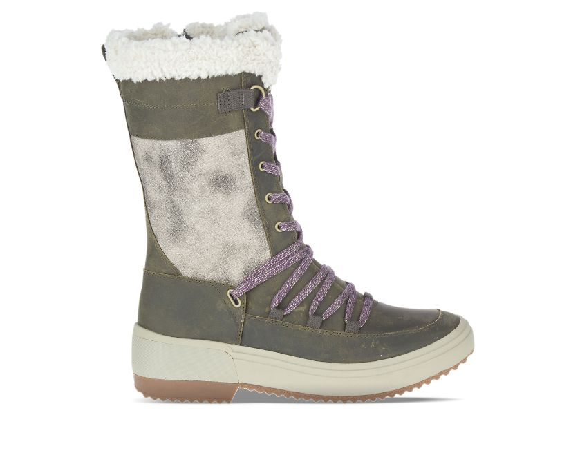 Haven Tall Lace Polar Waterproof, Olive, dynamic