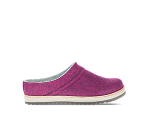 Juno Clog Wool, Cranberry, dynamic