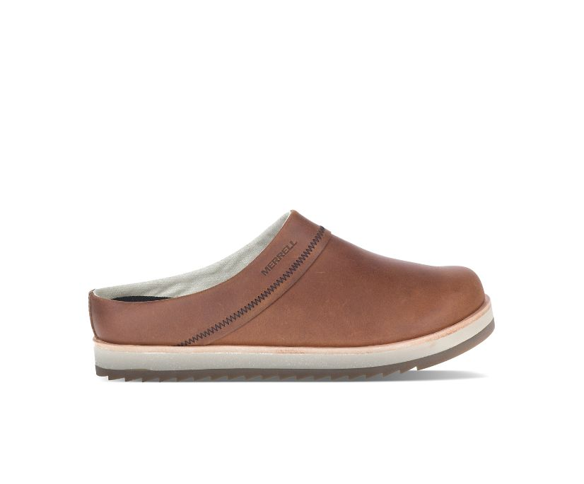Juno Clog Leather, Oak, dynamic