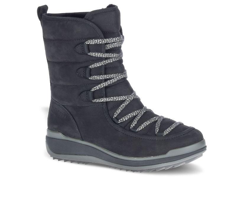 Snowcreek Cozy Leather Polar Waterproof, Black, dynamic