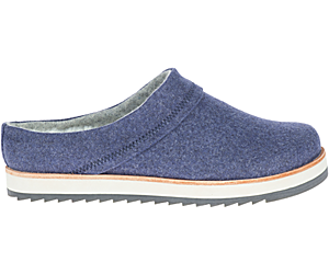 Juno Clog Wool, Navy, dynamic