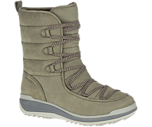 Snowcreek Cozy Leather Polar Waterproof, Olive, dynamic