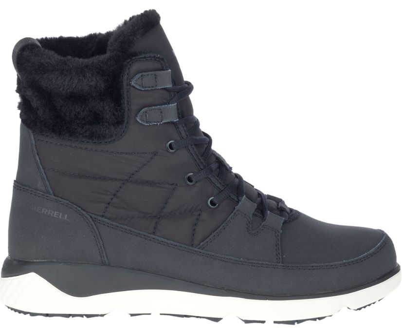 Farchill Mid Lace Leather Polar AC+ Waterproof, Black, dynamic