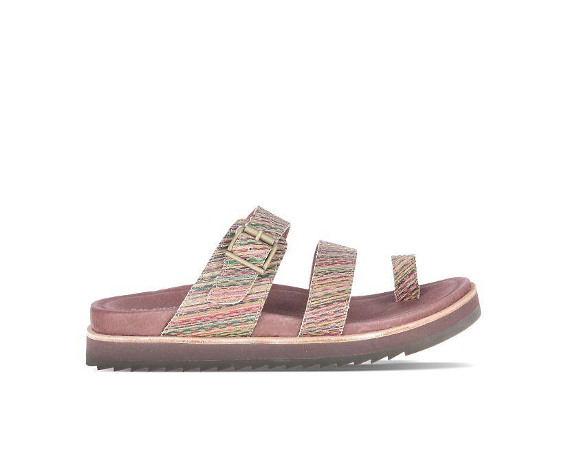 Juno Buckle Slide, Stripes, dynamic