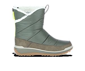 Snowcreek Sport Mid Zip Polar Waterproof, Olive, dynamic