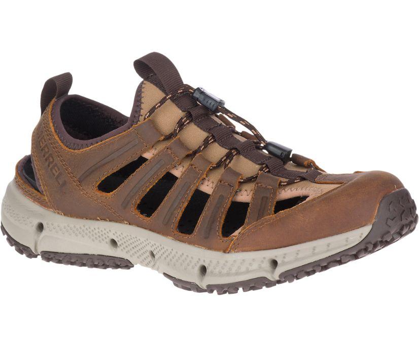 Hydrotrekker Leather Sieve, Merrell Tan, dynamic