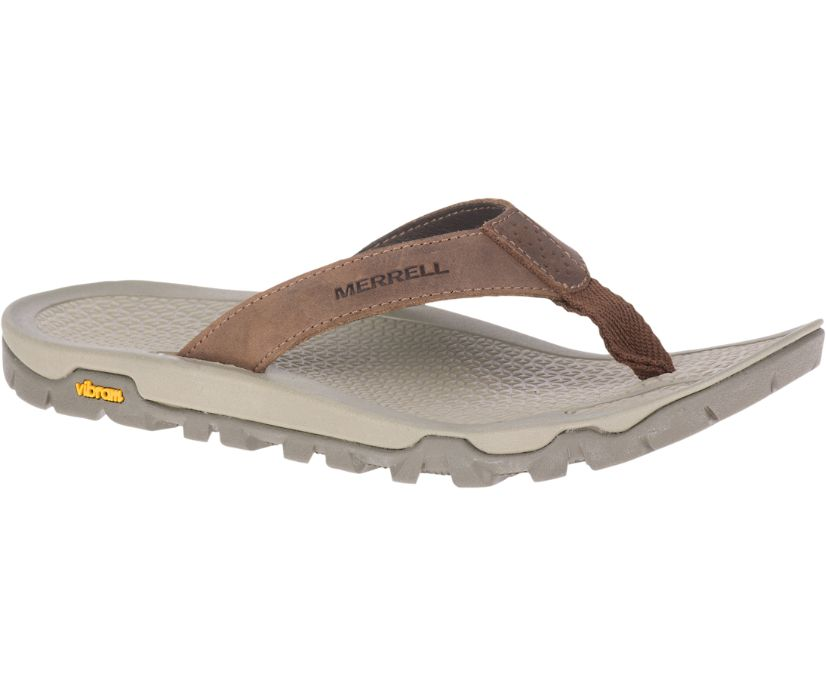 Breakwater Leather Flip, Brown, dynamic