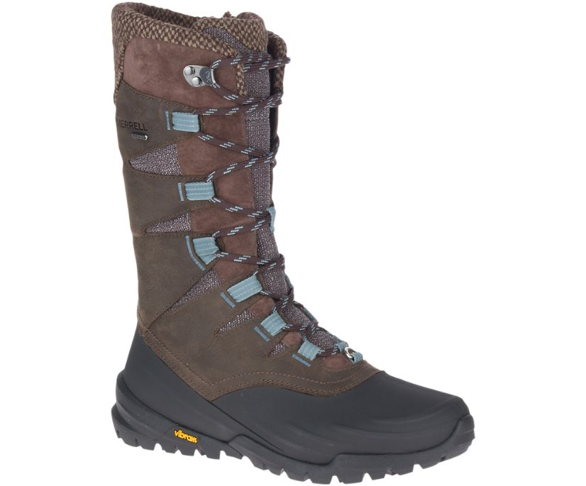 Thermo Aurora 2 Tall Shell Waterproof, Seal Brown, dynamic